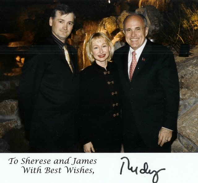 Rudy Guiliani,with Sherese and James Settelmeyer